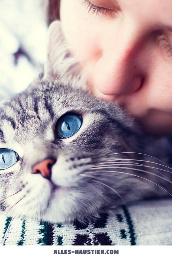 Frau mit geliebter Katze
